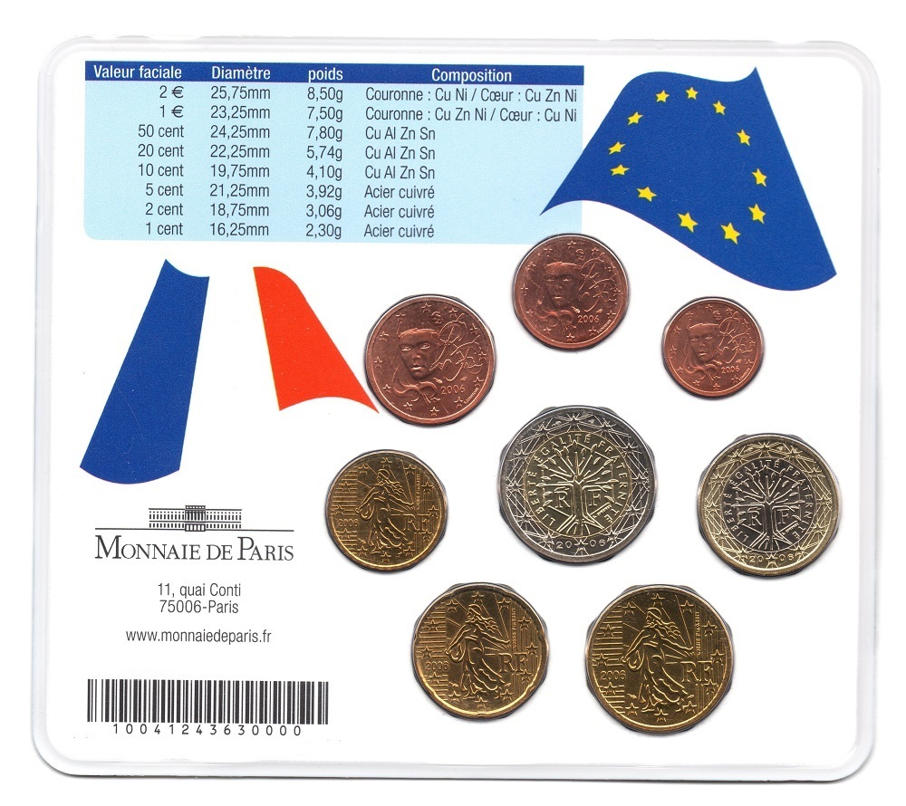 (EUR07.CofBUFDC.2006.M-S18.484) BU mini-set France 2006 - Franco German friendship Back (zoom)