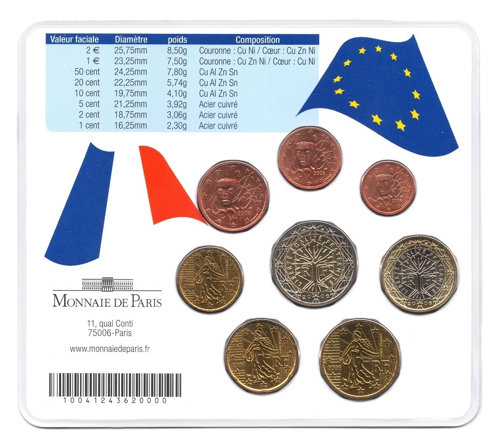 (EUR07.CofBUFDC.2006.M-S19.265) BU mini-set France 2006 - Franco-German friendship Back (zoom)