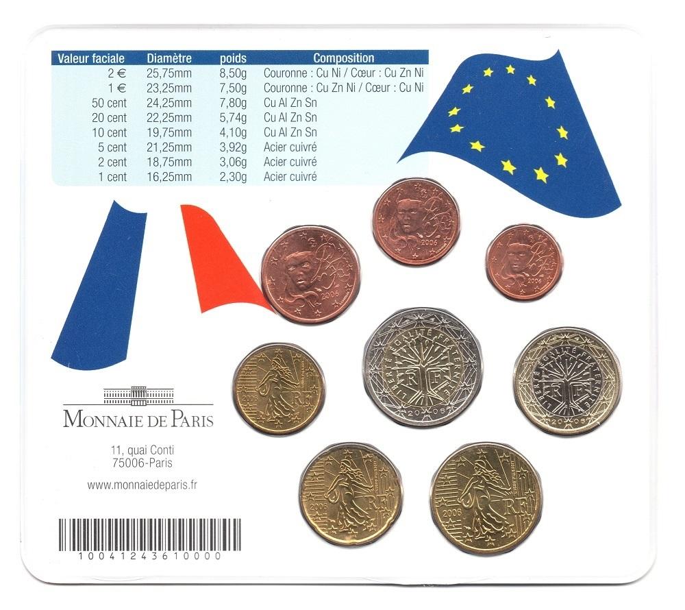 (EUR07.CofBUFDC.2006.M-S20.313) BU mini-set France 2006 - Franco German friendship Back (zoom)