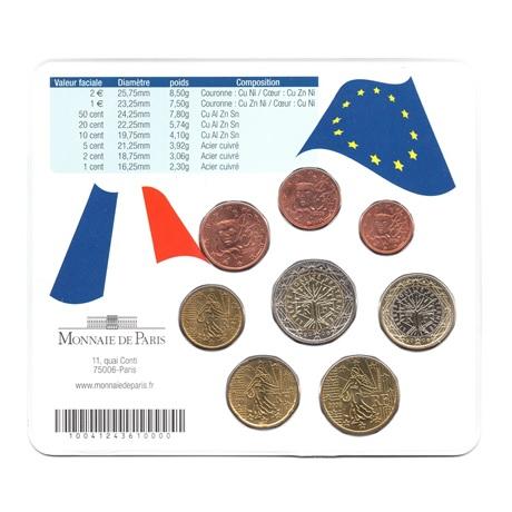(EUR07.CofBU&FDC.2006.M-S20.313) Mini-set BU France 2006 - Amitié franco-allemande (Chirac et Merkel) Verso