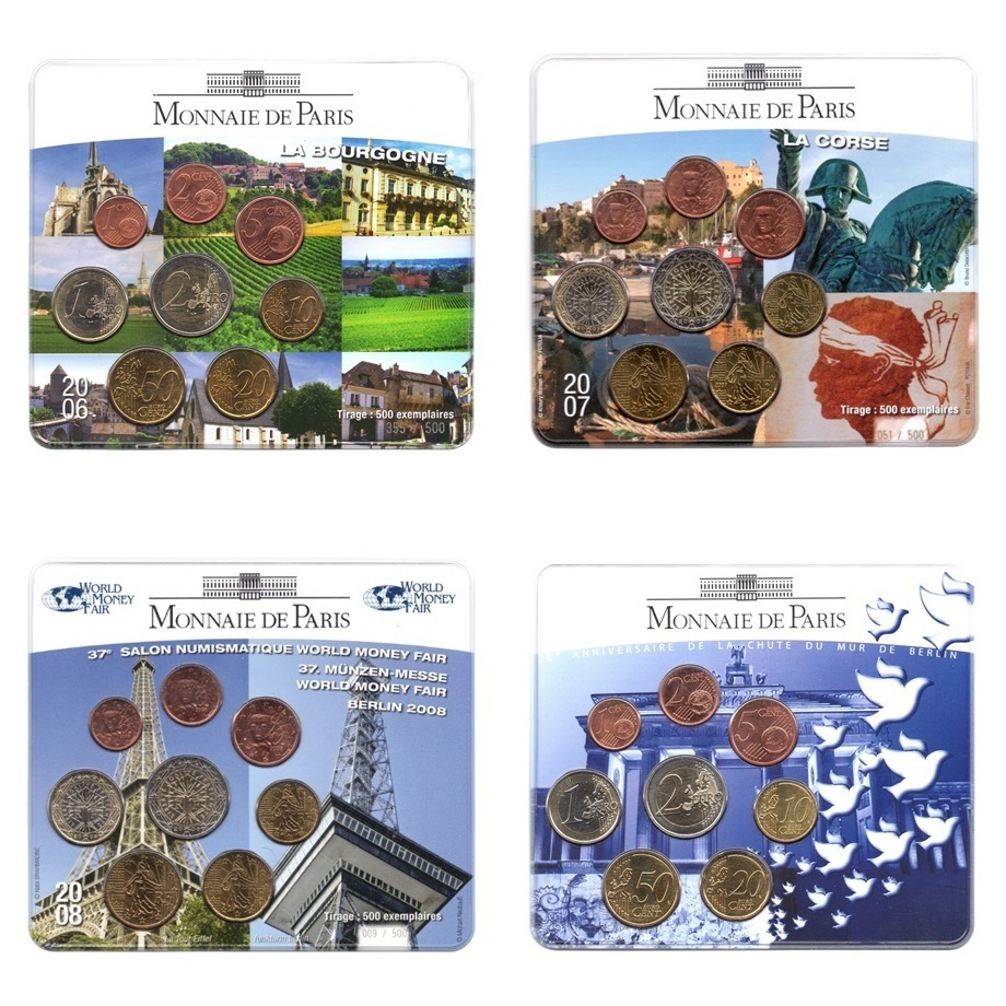 (EUR07.CofBUFDC.M-S) French Brilliant Uncirculated euro blisters (selection 1) (zoom)