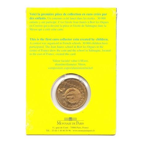 (EUR07.ComBU&BE.2002.25.BU.COM1.000000001) 0,25 euro France 2002 BU - Euro des enfants Verso