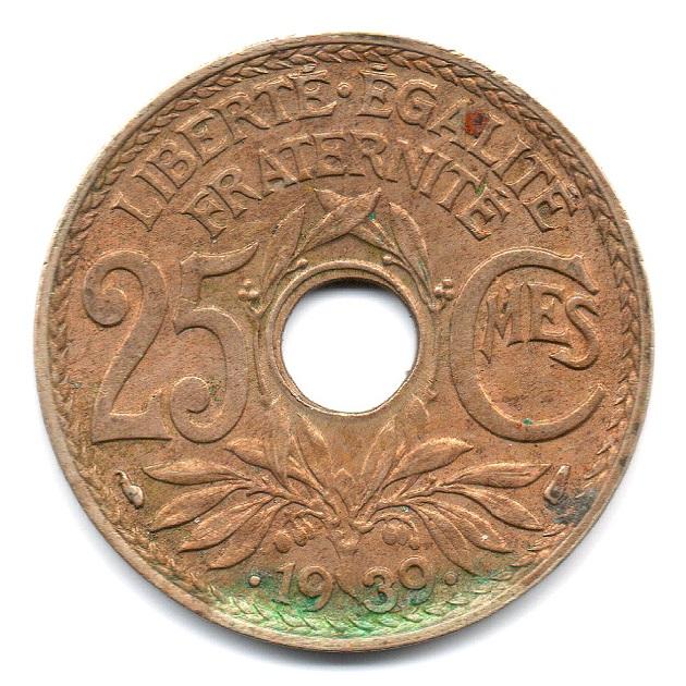 (FMO.025.•1939•.16.2.000000001) 25 Cents Lindauer •1939• Reverse (zoom)