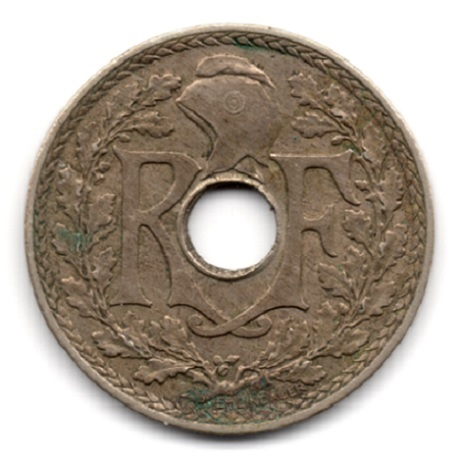 (FMO.025.•1939•.16.2.000000001) 25 centimes Lindauer, maillechort •1939• Avers