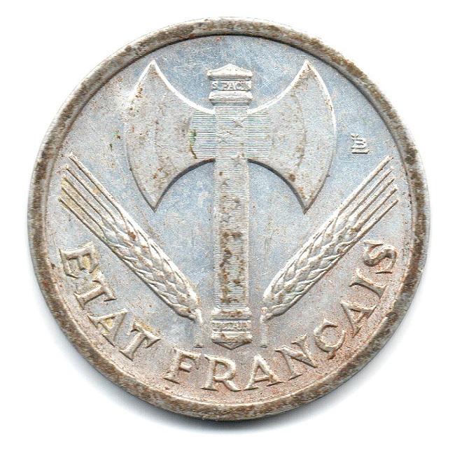 (FMO.1.1942.23.1.ttb.000000003) 1 Franc Francisca, heavyweight 1942 Obverse (zoom)