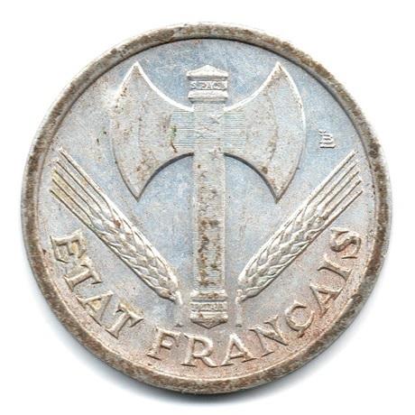 (FMO.1.1942.23.1.ttb.000000003) 1 Franc Francisque, lourde 1942 Avers
