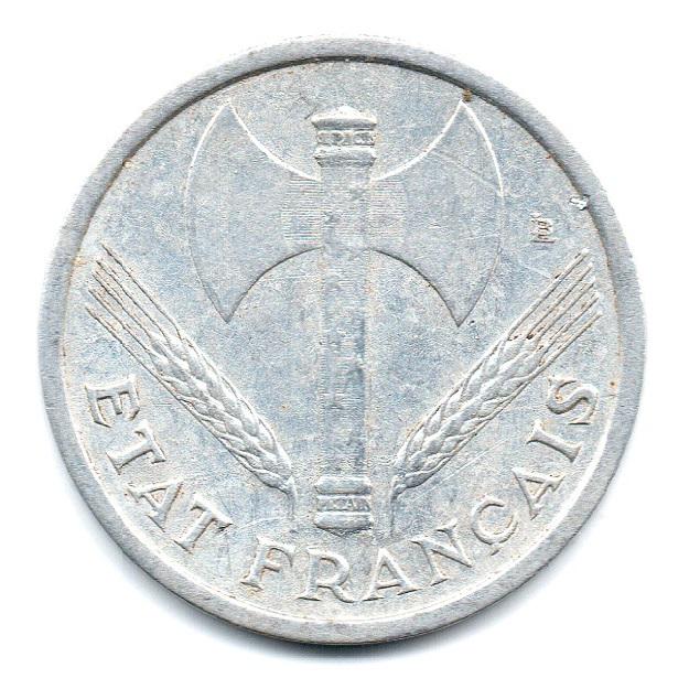 (FMO.1.1943.24.2.tb.plus.000000001) 1 Franc Francisca, lightweight 1943 Obverse (zoom)