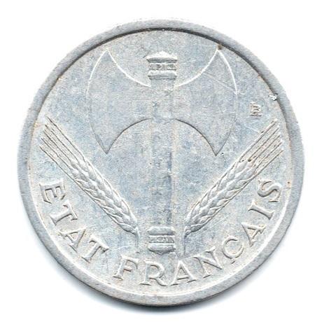 (FMO.1.1943.24.2.tb.plus.000000001) 1 Franc Francisque, légère 1943 Avers
