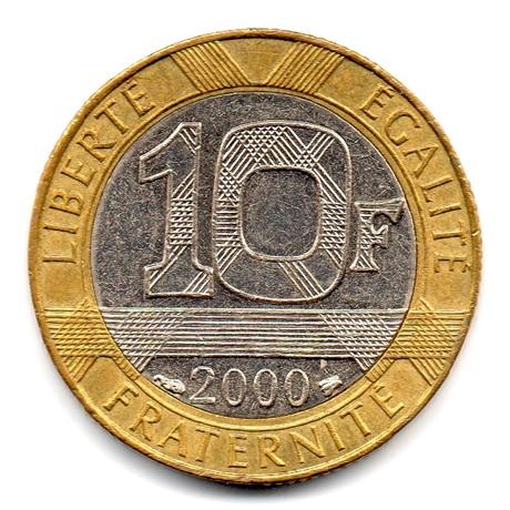 (FMO.10.2000.16.16.ttb.000000001) 10 Francs Génie de la Bastille 2000 Revers