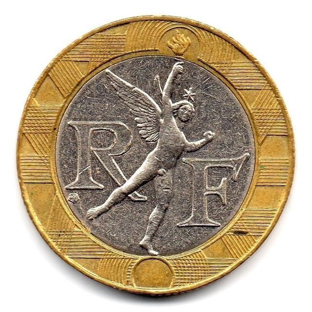 (FMO.10.2000.16.16.ttb.000000001) 10 Francs Genius in Bastille Place 2000 Obverse (zoom)