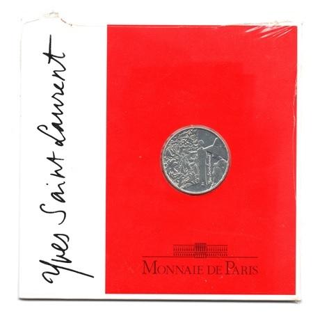 (FMO.5.2000.BU&BE.COM1.10.000000001) 5 Francs Yves Saint-Laurent 2000 - Argent BU Recto