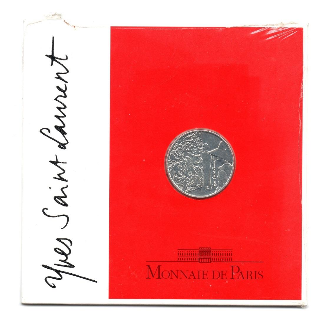 (FMO.5.2000.BUBE_.COM1_.10.000000001) 5 Francs Yves Saint-Laurent 2000 - BU silver Front (zoom)
