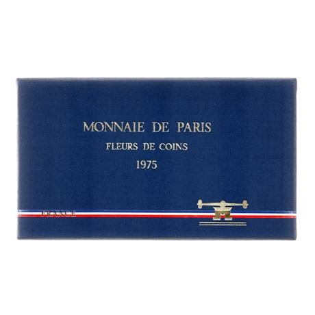 (FMO.CofBU.1975.Cof-FDC.000000001) Coffret FDC France 1975 (recto boîte)