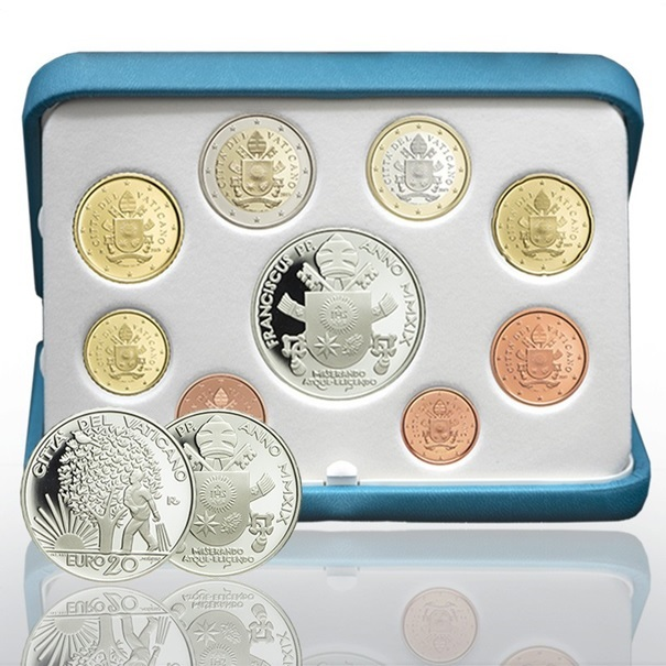 Proof coin set Vatican City 2019 - Respect of the natural environment (zoom)