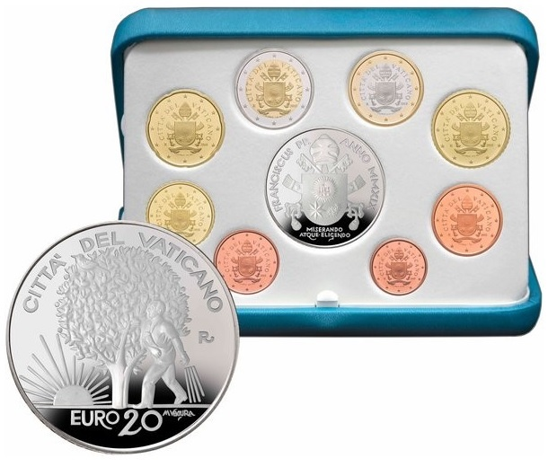 Proof coin set Vatican State 2019 - Respect of the natural environment (zoom)