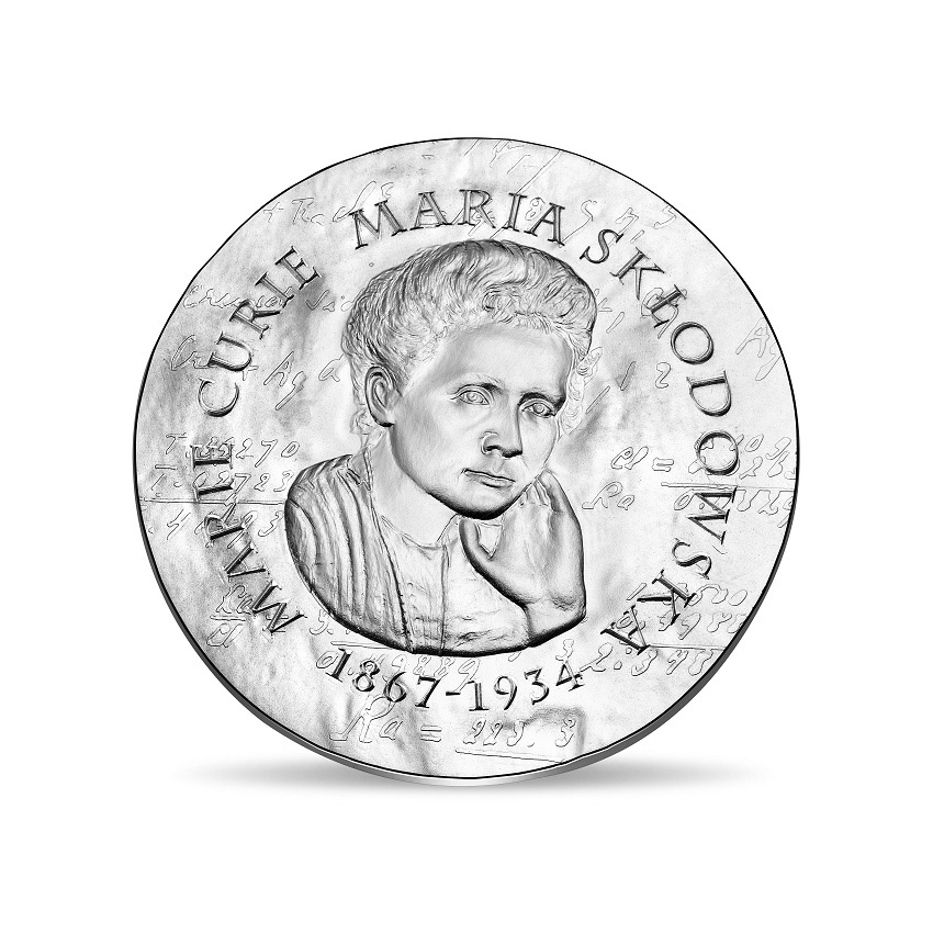 10 euro France 2019 Proof silver - Maria Sklodowska Obverse (zoom)