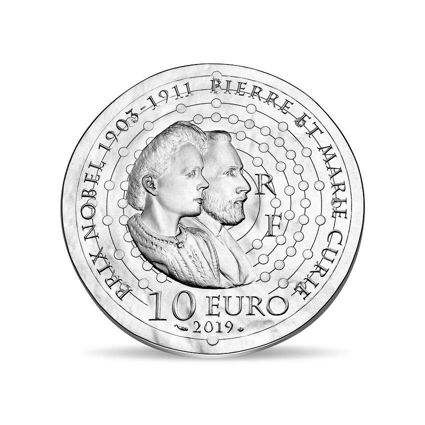 10 euro France 2019 Proof silver - Maria Sklodowska Reverse (zoom)