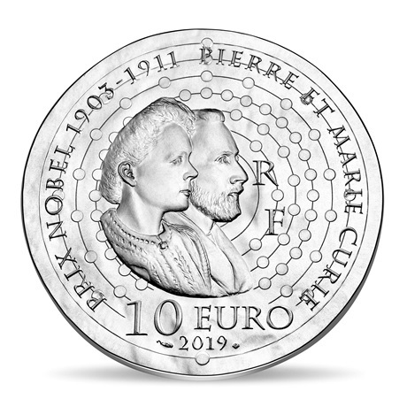 10 euro France 2019 argent BE - Marie Curie Revers