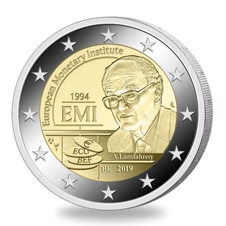 2 euro commémorative Belgique 2019 BU - Institut Monétaire Européen