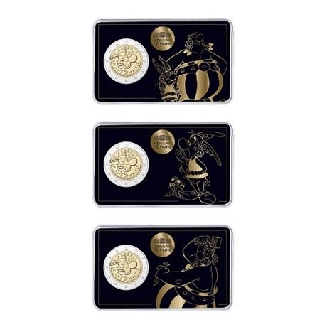 2 euro commémorative France 2019 BU - Astérix (série des 3 coin cards)