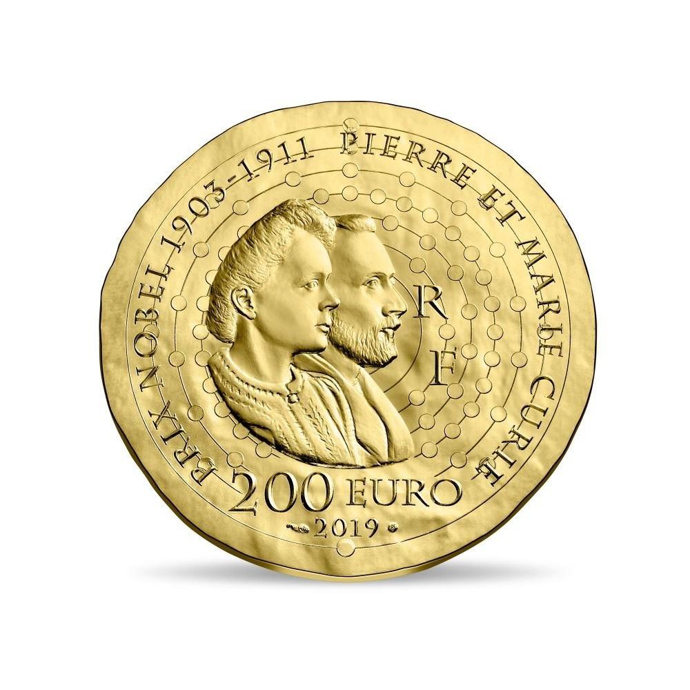 200 euro France 2019 Proof gold - Maria Sklodowska Reverse (zoom)