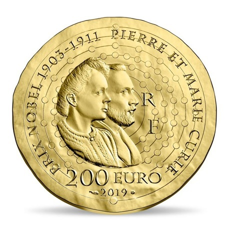 200 euro France 2019 or BE - Marie Curie Revers