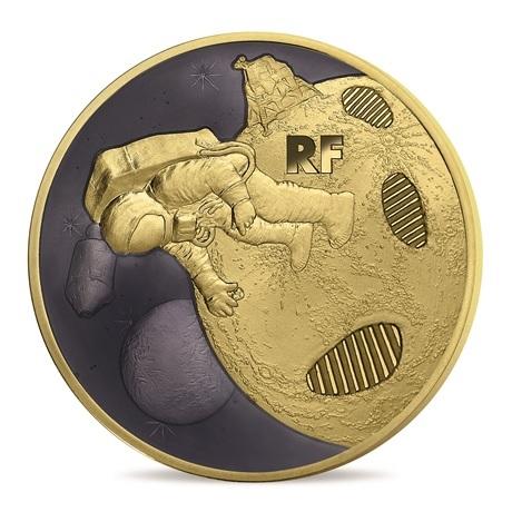 200 euro France 2019 or BE - Premiers pas sur la lune Avers