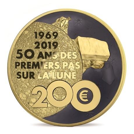 200 euro France 2019 or BE - Premiers pas sur la lune Revers
