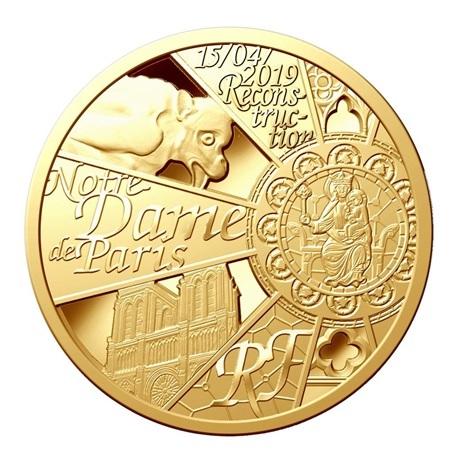 200 euro France 2019 or BE - Reconstruction de Notre-Dame de Paris Avers