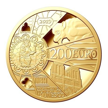200 euro France 2019 or BE - Reconstruction de Notre-Dame de Paris Revers