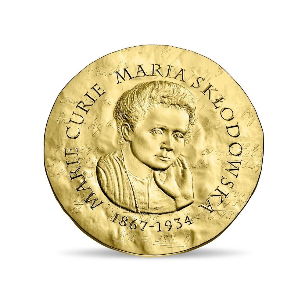 50 euro France 2019 Proof gold - Maria Sklodowska Obverse (zoom)