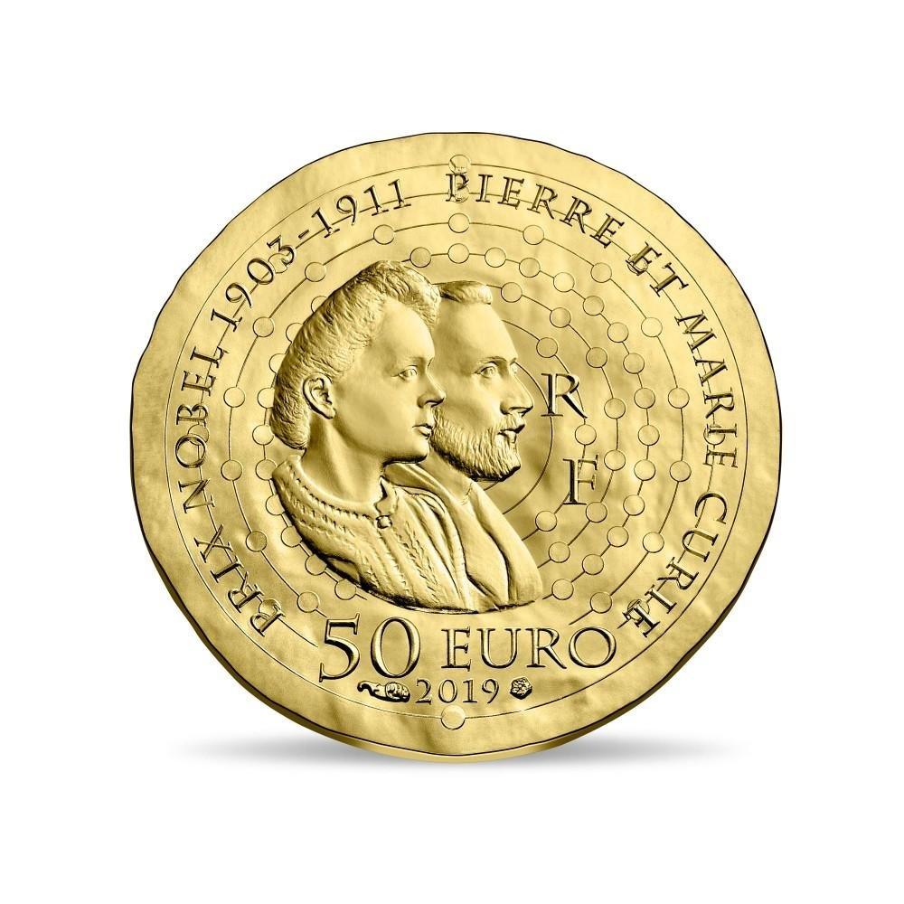 50 euro France 2019 Proof gold - Maria Sklodowska Reverse (zoom)
