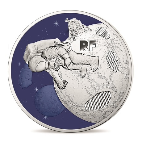 50 euro France 2019 argent BE - Premiers pas sur la lune Avers