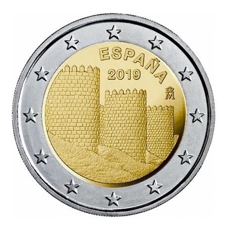 (EUR05.200.2019.COM1) 2 euro commémorative Espagne 2019 - Muraille d'Ávila