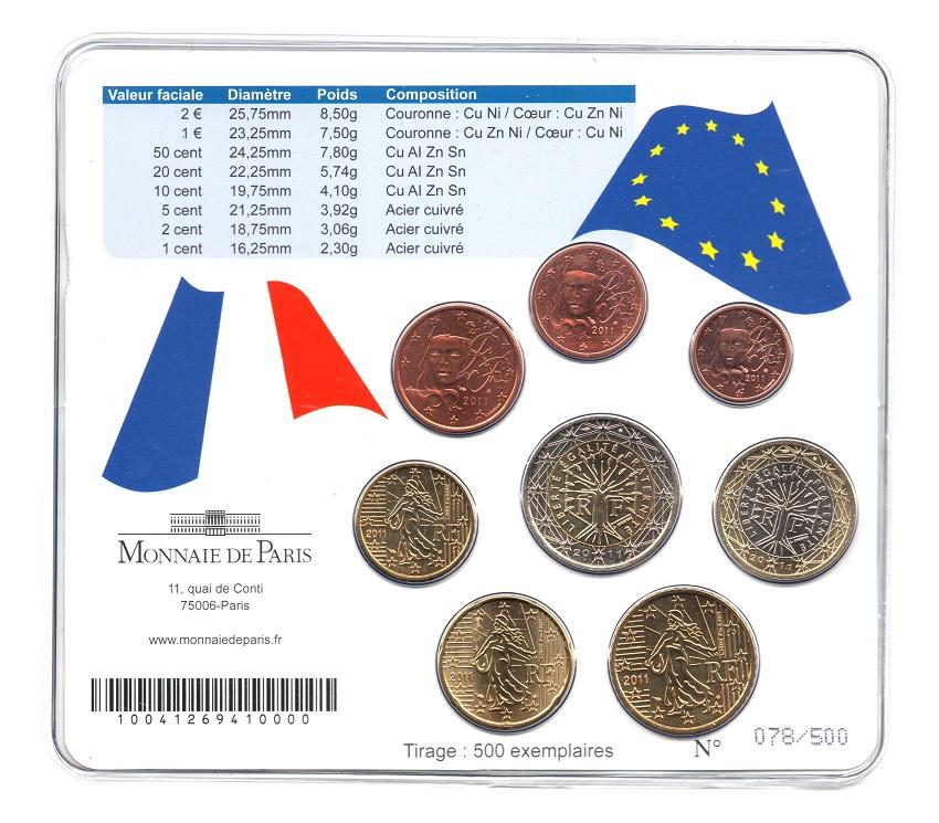 (EUR07.CofBUFDC.2011.M-S1.078) Mini-set BU France 2011 - Berlin World Money Fair Back (zoom)