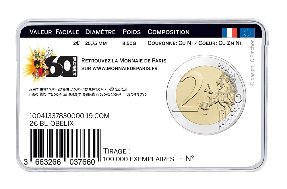 (EUR07.ComBUBE.2019.200.BU_.10041337830000) 2 euro France 2019 BU - Asterix Back (zoom)
