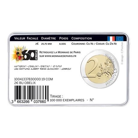 (EUR07.ComBU&BE.2019.200.BU.10041337830000) 2 euro commémorative France 2019 BU - Astérix Verso