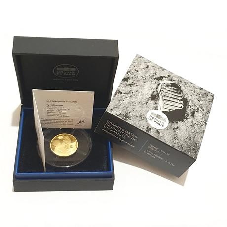 (EUR07.ComBU&BE.2019.5000.BE.1004132969000) 50 euro France 2019 or BE - Premiers pas sur la lune (packaging)
