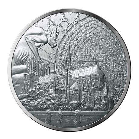 (FMED.Méd.MdP.Ag.100113412400B0) Médaille argent - Reconstruction de Notre-Dame de Paris Avers
