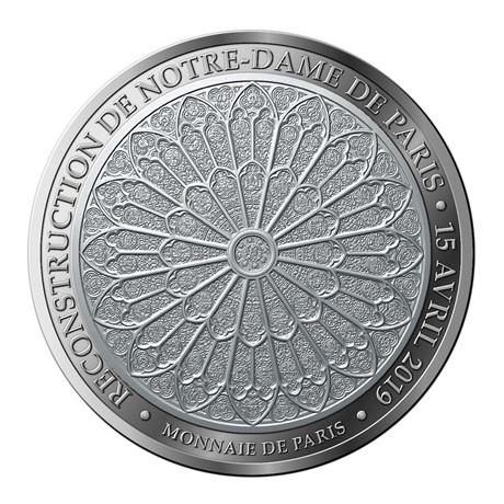 (FMED.Méd.MdP.Ag.100113412400B0) Médaille argent - Reconstruction de Notre-Dame de Paris Revers