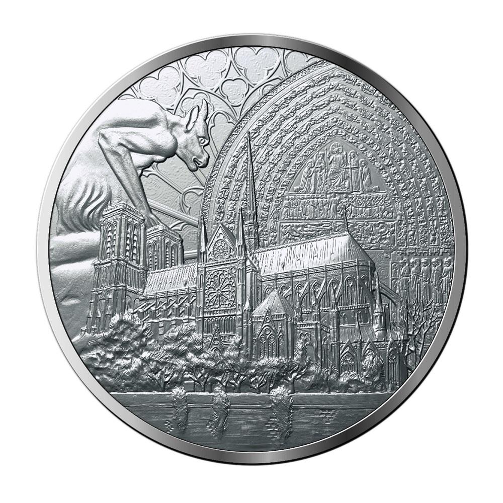 (FMED.Méd.MdP_.Ag_.100113412400B0) Silver medal Reconstruction of Notre-Dame de Paris Obverse (zoom)