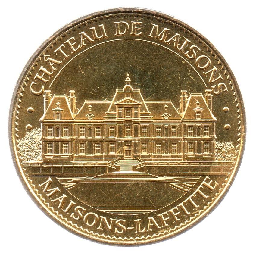 (FMED.Méd.tourist.2018.CuAlNi-3.1.spl_.000000001) Tourism token - Maisons-Laffitte Castle Obverse (zoom)