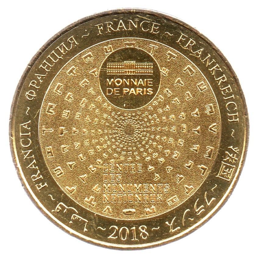 (FMED.Méd.tourist.2018.CuAlNi-3.1.spl_.000000001) Tourism token - Maisons-Laffitte Castle Reverse (zoom)