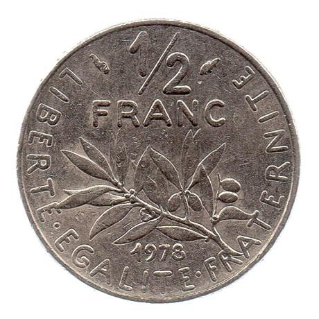 (FMO.050.1978.26.15.ttb.000000001) Demi-Franc Semeuse 1978 Revers