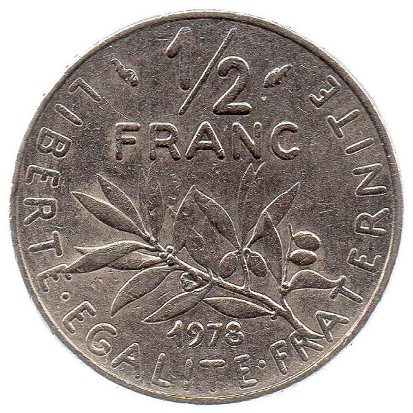 (FMO.050.1978.26.15.ttb.000000001) Half Franc Sower 1978 Reverse (zoom)