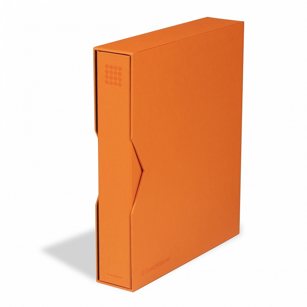 (MAT01.Albfeu.Alb_.359530) Orange album Lighthouse GRANDE with protective case (zoom)