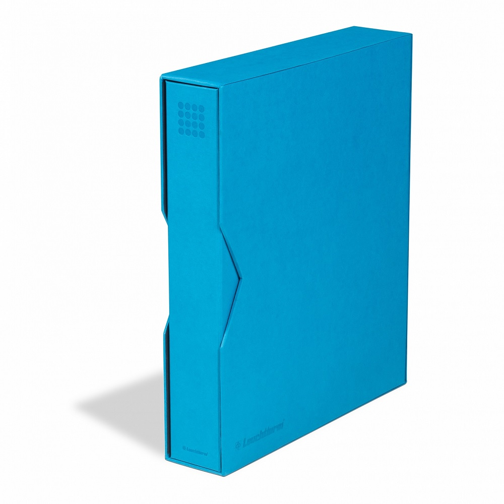 (MAT01.Albfeu.Alb_.359531) Cyan album Lighthouse GRANDE with protective case (zoom)
