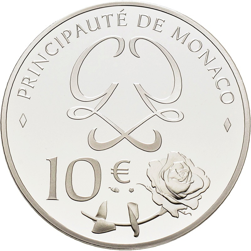 10 euro Monaco 2019 Proof silver - Princess Grace Kelly Reverse (zoom)