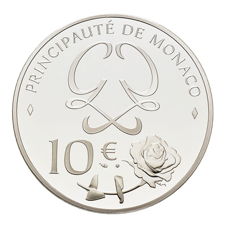 10 euro Monaco 2019 argent BE - Grace Kelly Revers