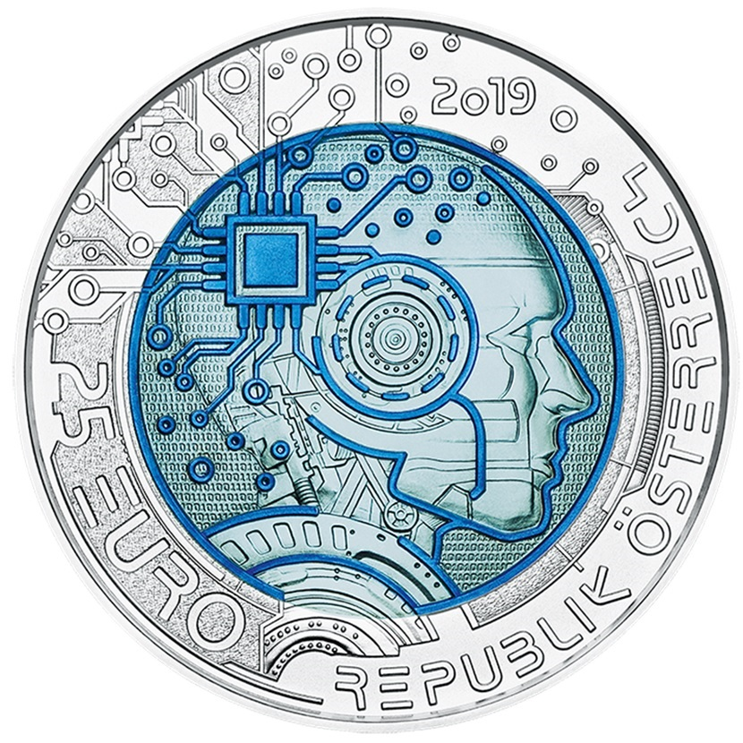 25 euro Austria 2019 - Artificial intelligence Obverse (zoom)
